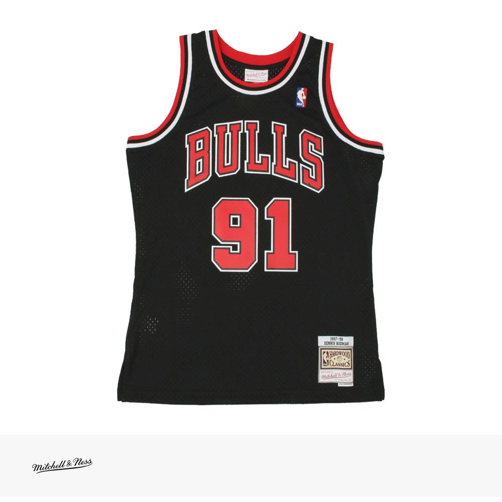 Mitchell & Ness SWINGMAN JERSEY DENNIS RODMAN 1997-98 CHICAGO BULLS BLACK / ミッチェルアンドネス ジャージ