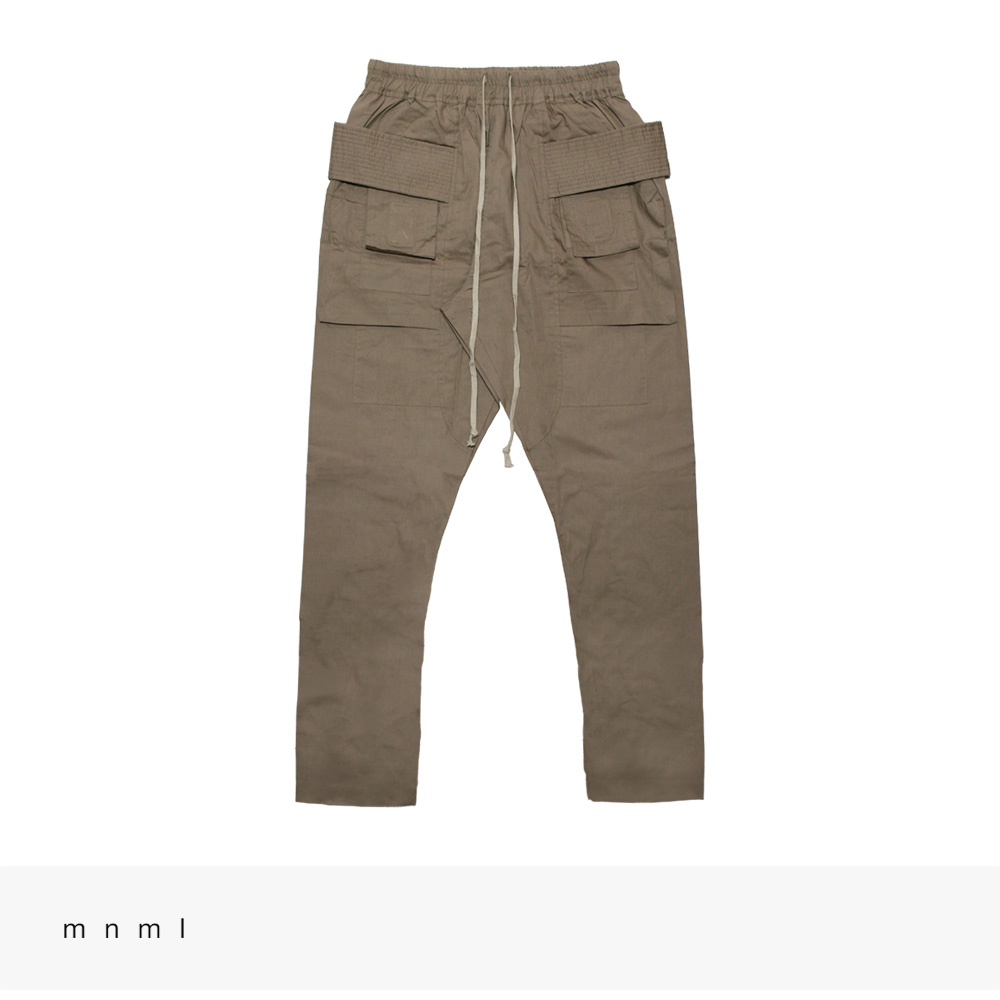 mnml DROP CROTCH CARGO PANTS   STONE / ミニマル パンツ