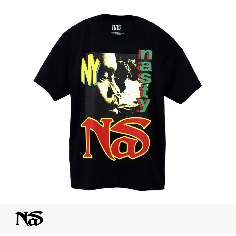 NAS OFFICIAL MERCHANDISE NASTY NAS TEE / ナズ Tシャツ