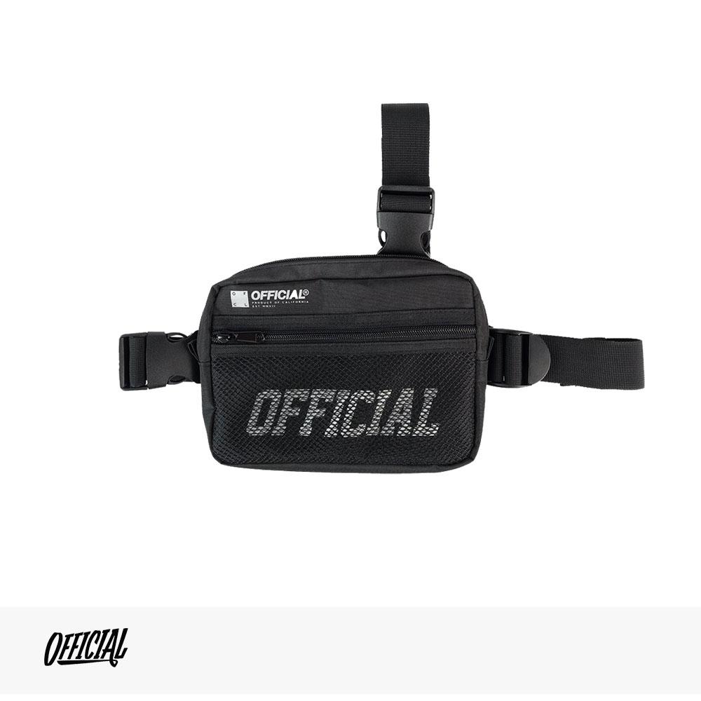 OFFICIAL MELROSE TRI-STRAP UTILITY BAG | BLACK / オフィシャル バッグ