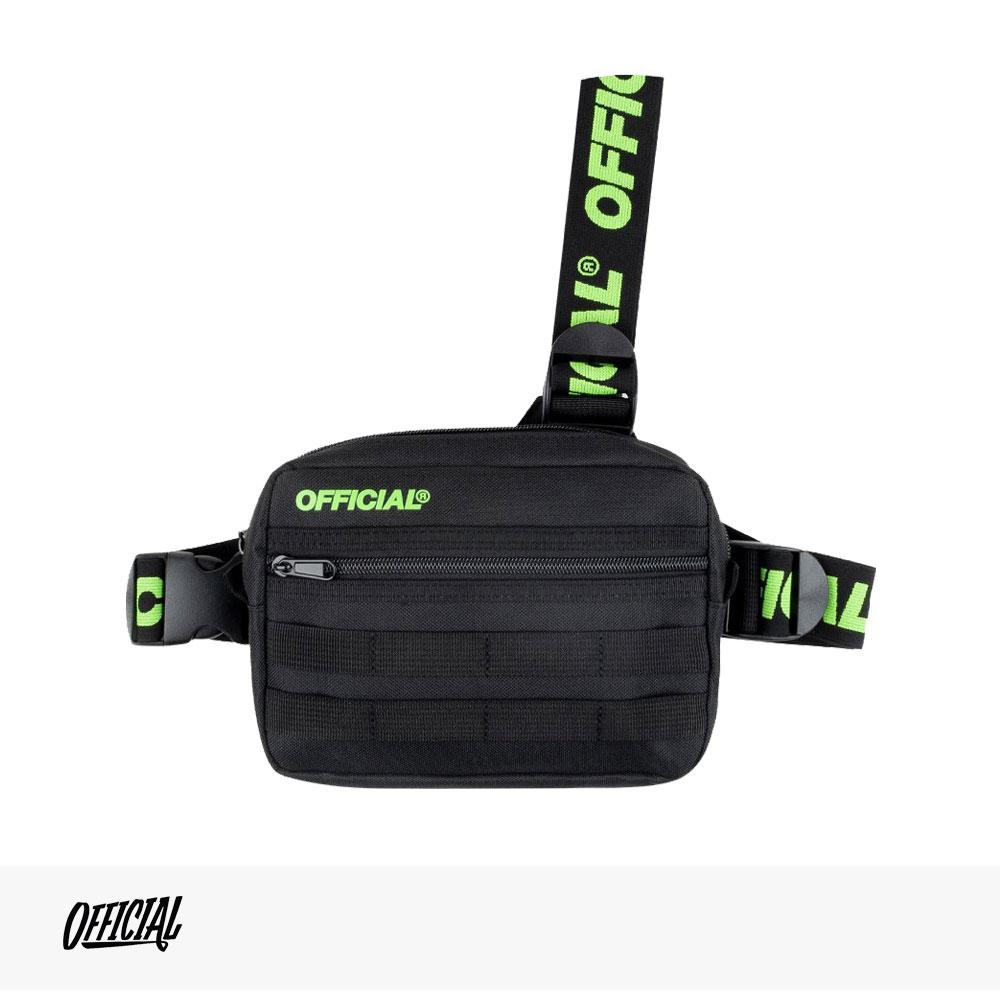 OFFICIAL PISTE TRI-STRAP CHEST UTILITY BAG | BLACK | YELLOW / オフィシャル バッグ
