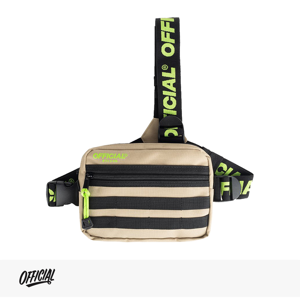 OFFICIAL DESERT VOLT TRI-STRAP CHEST UTILITY BAG | BEIGE | YELLOW / オフィシャル バッグ