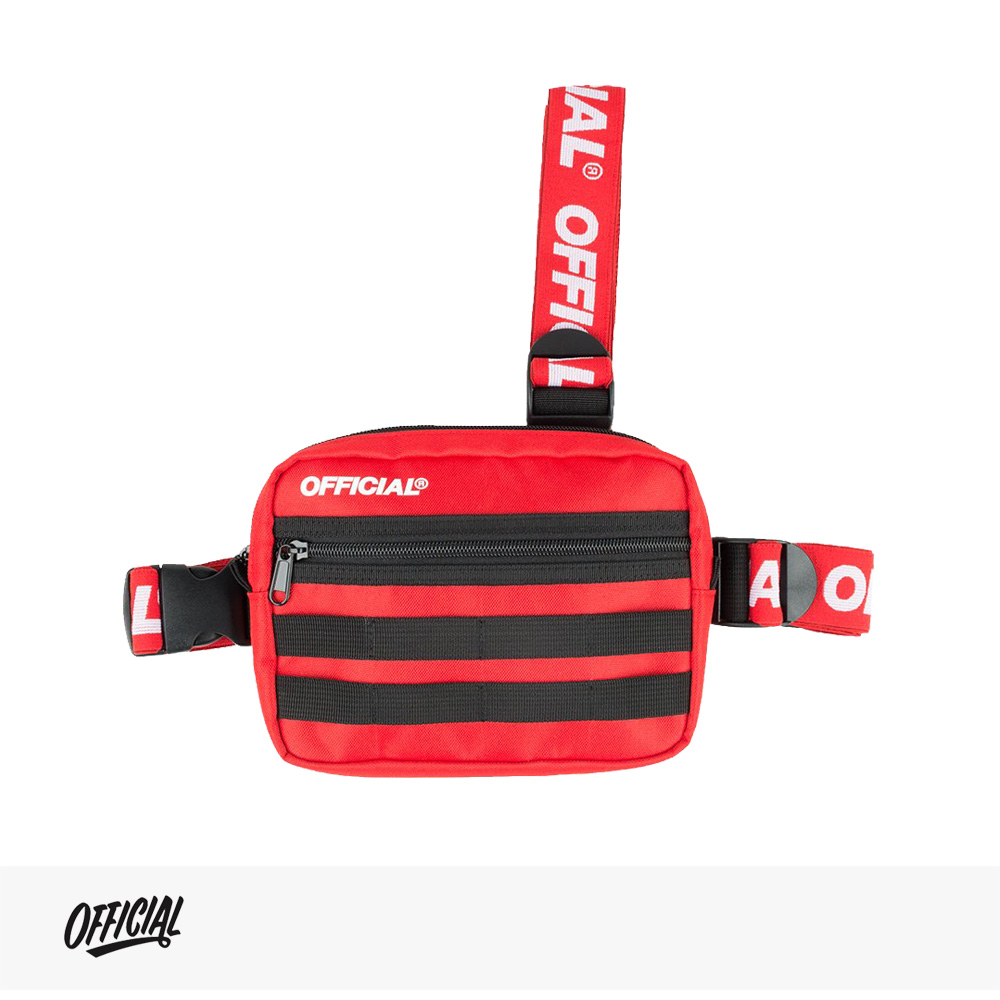 OFFICIAL PISTE TRI-STRAP CHEST UTILITY BAG | RED / オフィシャル バッグ
