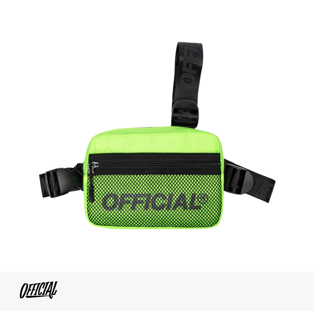OFFICIAL MELROSE 2.0 TRI-STRAP CHEST UTILITY BAG | HI-VIS YELLOW / オフィシャル バッグ