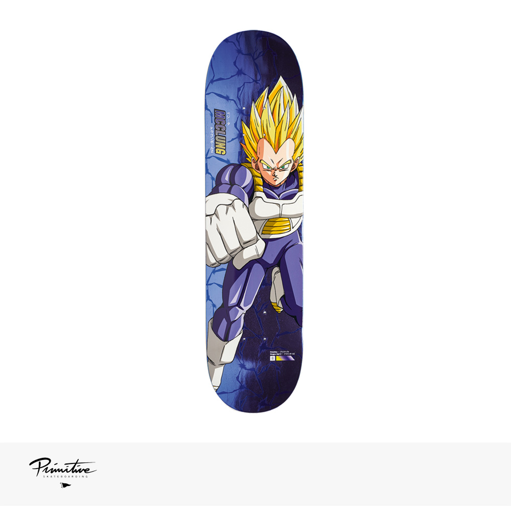 "PRIMITIVE × DRAGON BALL Z SUPER SAIYAN VEGETA DECK TRENT MCCLUNG | 7.8"" / プリミティブ デッキ"
