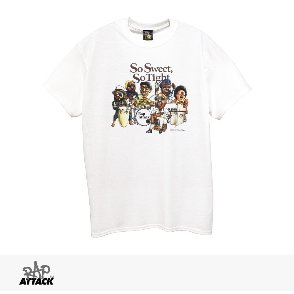 RAP ATTACK × FUCKIN' JAY SO SWEET, SO TIGHT TEE | WHITE / ラップアタック Tシャツ