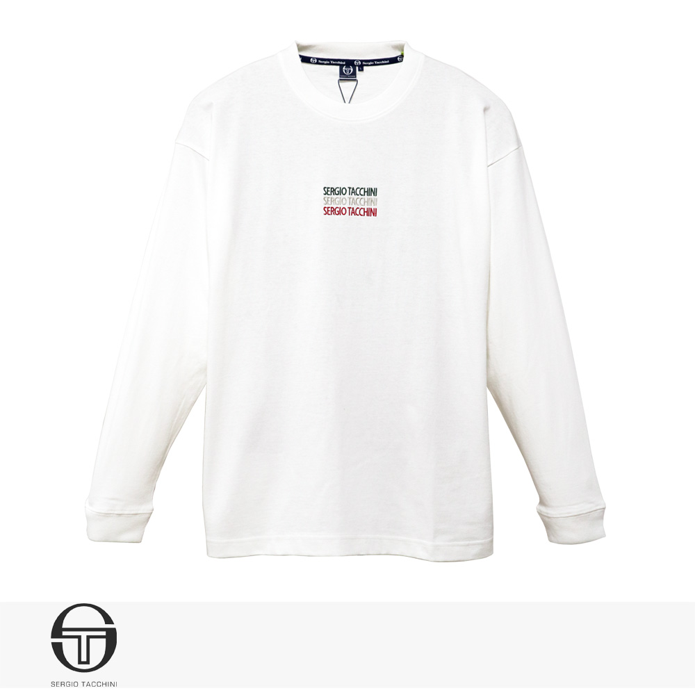 2020 S/S SERGIO TACCHINI ITALIANO ENBROIDERY LONG T-SHIRT | WHITE / セルジオタッキーニ Tシャツ