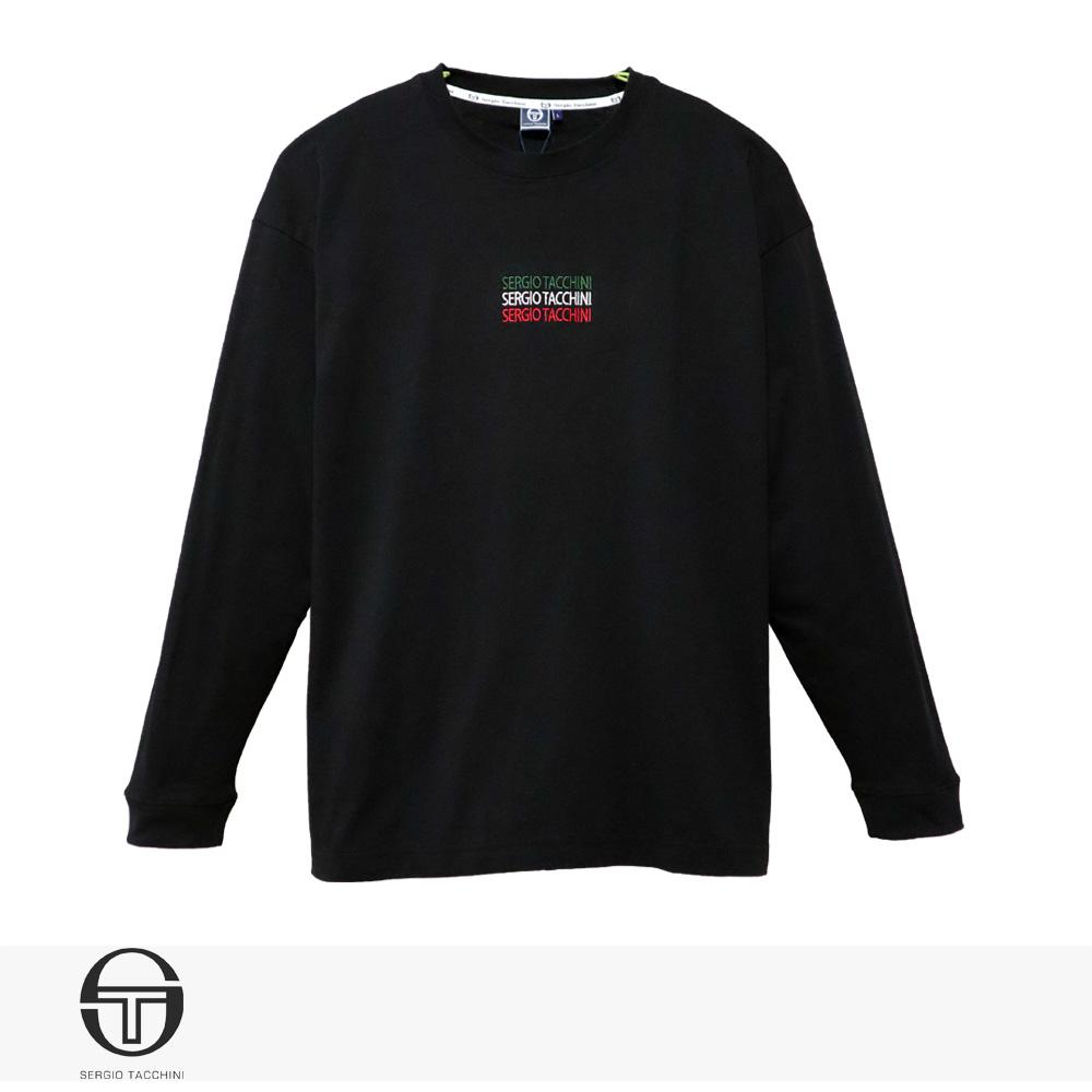 2020 S/S SERGIO TACCHINI ITALIANO ENBROIDERY LONG T-SHIRT | BLACK / セルジオタッキーニ Tシャツ