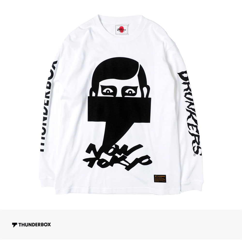 THUNDERBOX × PUNK DRUNKERS NOW TOKYO L/S TEE | WHITE / サンダーボックス Tシャツ