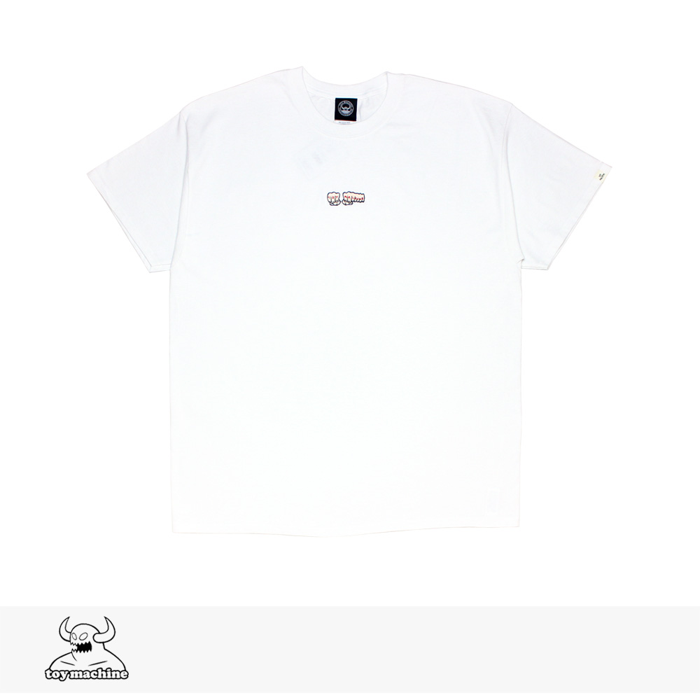 2019 SUMMER TOY MACHINE FIST EMB SS TEE | WHITE / トイマシーン Tシャツ
