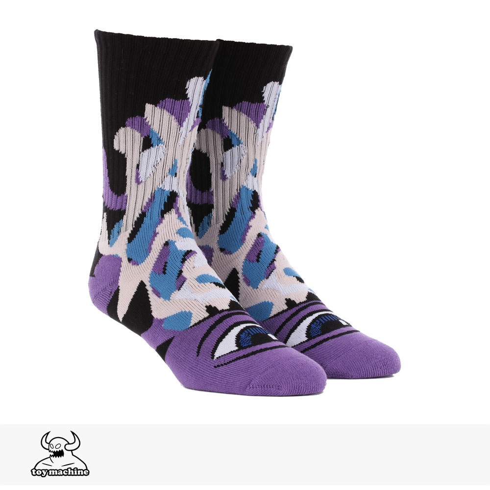 TOY MACHINE BARF SECT SOCKS | PURPLE / トイマシーン ソックス