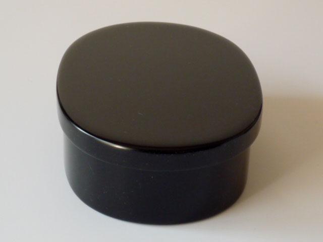 輪島漆塗り 二段お弁当箱 黒