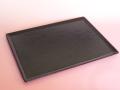 輪島漆塗り 毎日使う長方形のお盆 布目盆(黒)