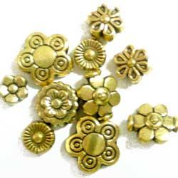 メタルビーズ 小花 真鍮 10個セット