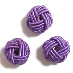 9mm レーヨン巻きビーズ 紫