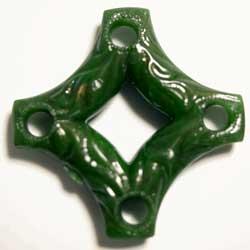 アクリル 十字型ビーズ グリーン