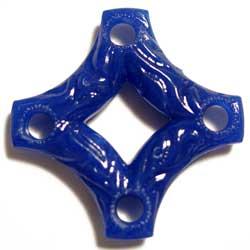 アクリル 十字型ビーズ ブルー