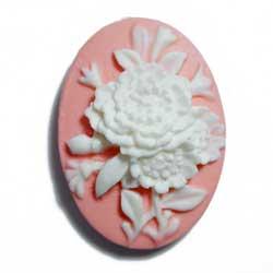 18×13 アクリルカメオ 花束 ピンク