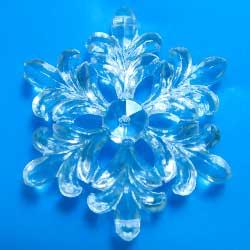 プラスチックカボション 雪の結晶 クリア