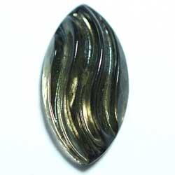 29×15 グラスカボ カット ブラックダイヤ