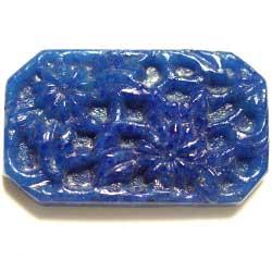 17.5×29 グラスカボション 彫刻 紺花