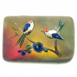 18×11 グラスカボ ペイント鳥