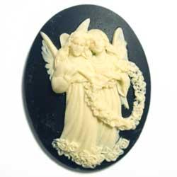 40×30 アクリルカメオ 薔薇天使