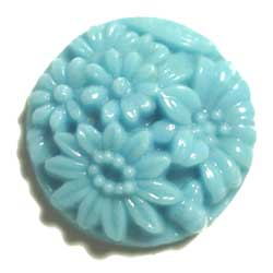 20mm グラスカボション 彫刻 空色