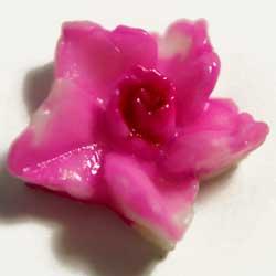 樹脂カボション 星型花 ピンク