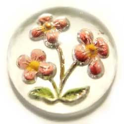 11mm グラスインタリオ ピンク花