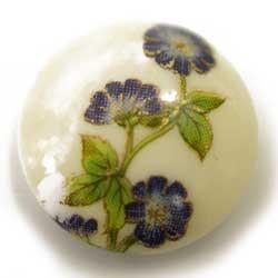 12mm グラスカボ 青花