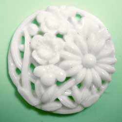 28mm グラスカボション 彫刻白
