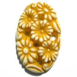 32×20 樹脂カボション 菊花