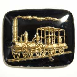 22×27 グラスカボション 機関車