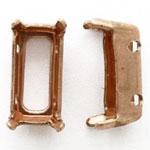10×5 オクタゴンセッティング 4穴 真鍮