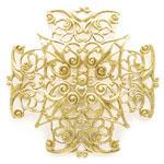 フィリグリー 薄型四角 真鍮