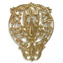 フィリグリー 洋梨型 真鍮
