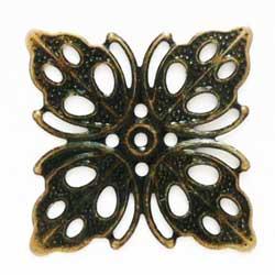 フィリグリー 四角葉 真鍮古美