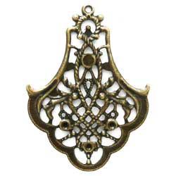 スタンピング 透かし釣鐘型 真鍮古美