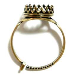 指輪ベース 47SSストーン用 真鍮古美