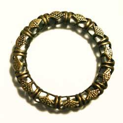 フィリグリー 16mm環状 真鍮古美