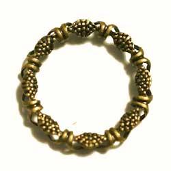 フィリグリー 23mm環状 真鍮古美