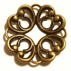 フィリグリー クローバー環 真鍮古美