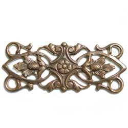 コネクター 横長模様4カン 真鍮古美