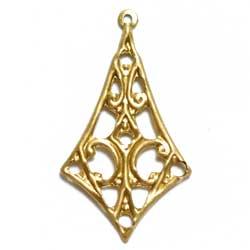 フィリグリー 垂れ菱形 1カン 真鍮