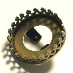 14mm ラウンドST ボロスライド 真鍮古美
