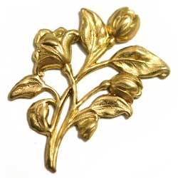 スタンピング チューリップ花束 真鍮