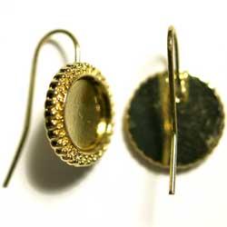 ピアス 10mmパッド飾り枠 金