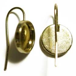 ピアス 10mmパッド シンプル 金