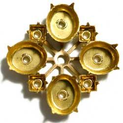 12×10&4mmスクエア オーバルマルチST 真鍮